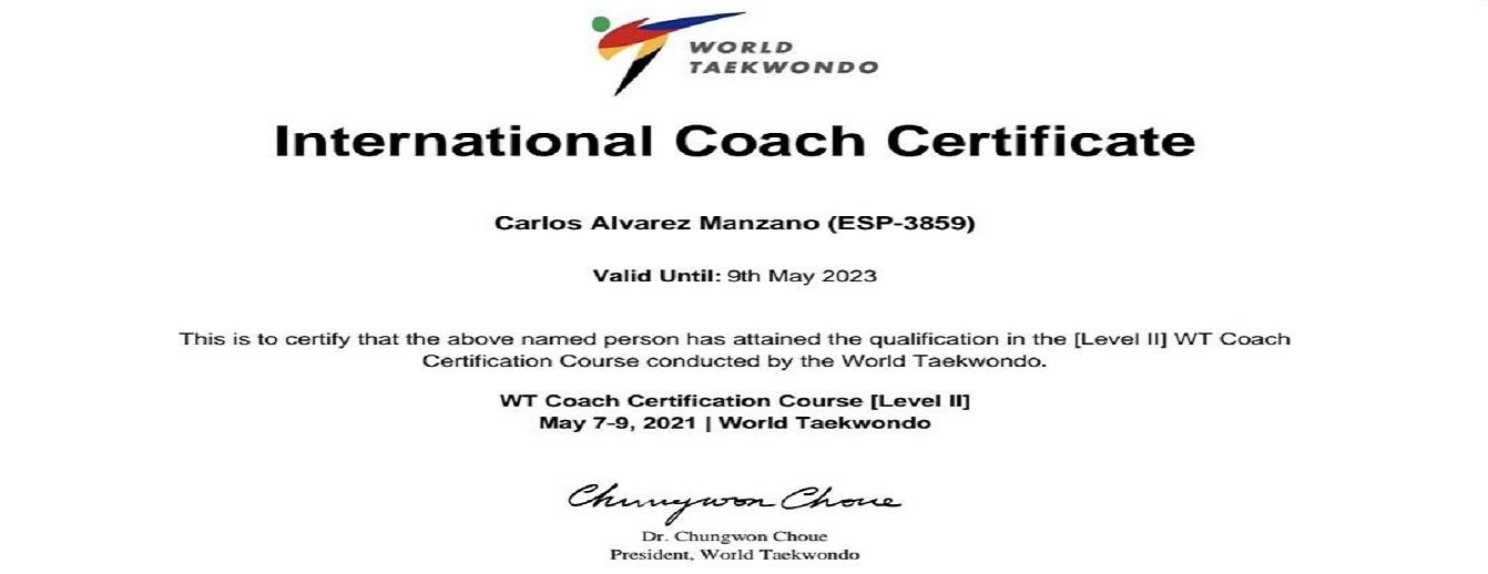CARLOS ALVAREZ MANZANO WT COACH LEVEL II